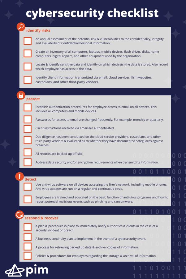 pim.INFO.cybersecurity checklist.Sept2021